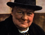 Detail from an image of Winston Churchill