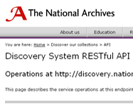 The National Archives' API