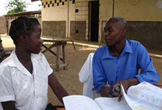 Back to school for young mother, Joana, in Inhambane