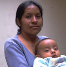 Mother and child, both living with HIV in Guatemala