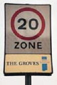 Example of 20 mph zone signage, The Groves