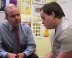 photo of doctor with a patient with learning disabilities