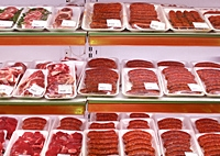 meat packaged in shop