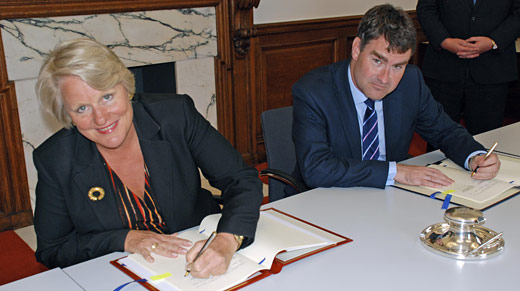 Exchequer Secretary, David Gauke signs an agreement with the United States to improve international tax compliance and implement FATCA.