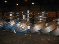 The banded steel coils after their collapse in ABC's former warehouse in Immingham Docks.