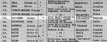 Sonny Ramadhin's name appears on the 1953 passenger list of the S.S Cavina bound for England.