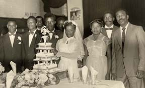 Wedding in Birmingham in 1960.