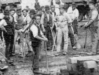 Workers on Manchester Ship Canal c.  1890