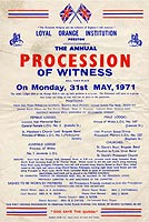 Preston Orange Lodge Procession poster, 1971