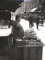 A bagel seller on Petticoat Lane