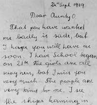 The opening of a letter Grete wrote to Olive Rudkin after her evacuation to Dartmouth.