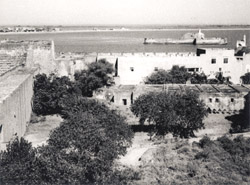 A 1937 photograph of the old fortifications at Diu in Gujarat.  Diu, once a former colonial possesstion of Portugual, was brought under Indian control in 1961.