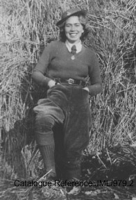 A Jewish member of the Women's Land Army