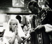 Photograph of a young girl's First Holy Communion