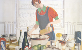 Empire Marketing Board 1927-1933 poster, making the Empire Christmas pudding, artist F C Harrison. Catalogue reference: CO 956/62