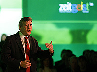 Gordon Brown addresses the Google Zeitgeist Conference; Reuters copyright