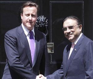 David Cameron and President Zadari