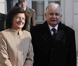 Polish President Lech Kaczynski and his wife; PA copyright