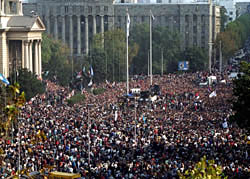 5 October 2000, people of Yugoslavia storm government buildings and end Milosevic's 10 year regime