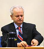 Former Yugoslav President Slobodan Milosevic is defending himself at the International Criminal Court in The Hague