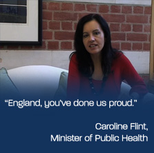 England, you've done us proud - Caroline Flint, Former Min. of Public Health