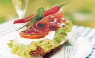 Gourmet open sandwich. © Berit Myrekrok/Getty Images
