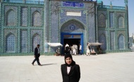 Fatim Jumabhoy at the Iman Ali Shrine in Mazar-e-Sharif