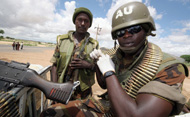 African Union soldier in Sudan. © STUART PRICE/AFP/Getty Images