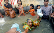 people caught in floods