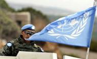 UN peacekeeper in Lebanon. © MARWAN NAAMANI/AFP/Getty Images