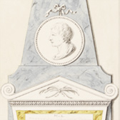 Drawing of a variant of the monument to Thomas Steavens, James Stuart, about 1773. Museum no. 8408.14 (Box H.13)
