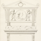 Drawing of a monument to Thomas Bentley,