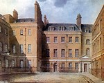 Downing Street in 1827; Crown copyright