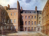 Downing Street 1827 - watercolour by C Buckler