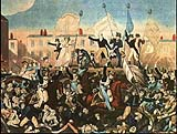 Eleven people were killed by soliders during the infamous Peterloo massacre