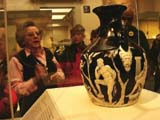 The Portland Vase is on display at the British Museum