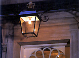 The elaborate lamp above the front door is thought to date from the 1770s. Picture: Mark Fiennes