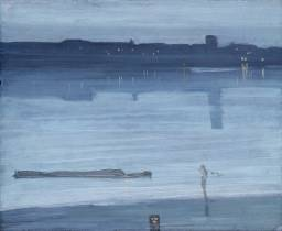 James Abbott McNeill Whistler, Nocturne: Blue and Silver - Chelsea, 1871