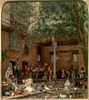 Study for `The Courtyard of the Coptic Patriarch's House in Cairo' , John Frederick Lewis, c1864