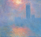 Claude Monet, Houses of Parliament: Effect of Sunlight in the Fog, 1904Musée d'Orsay, Paris