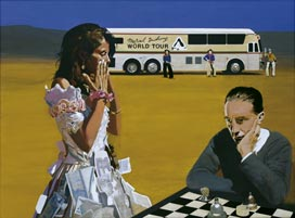 Peter Blake, Marcel Duchamp's World Tour: Playing Chess with  Tracey 2003-5