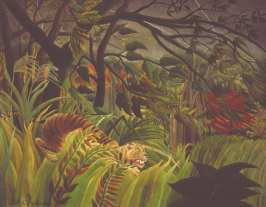 Henri Rousseau, Tiger in a Tropical Storm (Surprised!), 1891The National Gallery, London