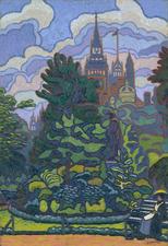 Charles Ginner, Victoria Embankment Gardens, 1912