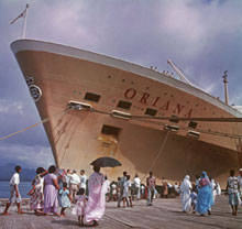 ORIANA at quayside, 1950.