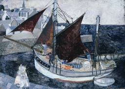 Christopher Wood, Boat in Harbour, Brittany, 1929