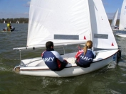 Royal Navy Dinghy Team at UK Team Racing Association Championships at Bough Beech reservoir, weekend March 18-19 2006