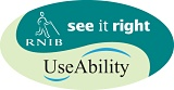 RNIB See it Right and UseAbility logo