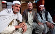 A picture by Susan Schulman -3 Afghan men (all rights reservesd)