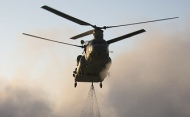Helicopter in southern Afghanistan
