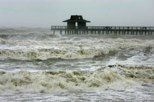 A hurricane just about to hit Florida. (c) Getty Images